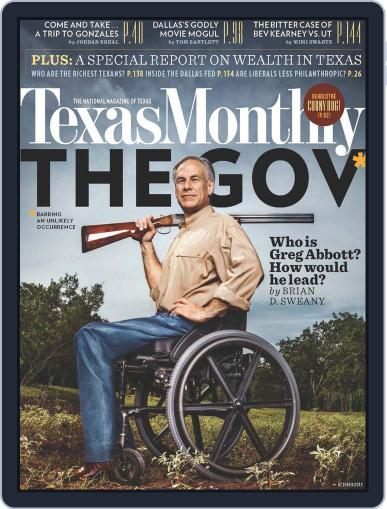 Texas Monthly (Digital) September 27th, 2013 Issue Cover