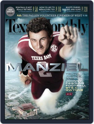 Texas Monthly (Digital) August 26th, 2013 Issue Cover