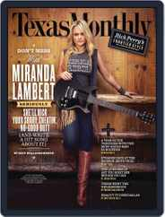 Texas Monthly (Digital) Subscription September 22nd, 2011 Issue