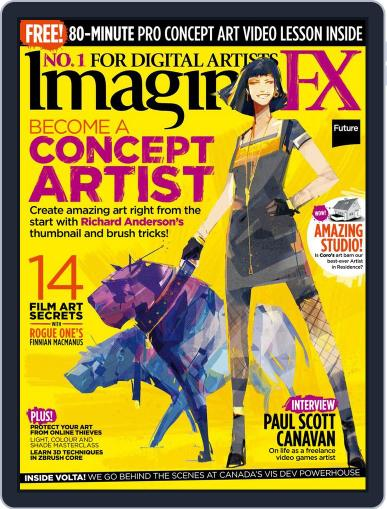ImagineFX October 1st, 2017 Digital Back Issue Cover