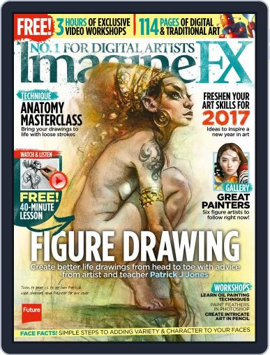 ImagineFX February 1st, 2017 Digital Back Issue Cover