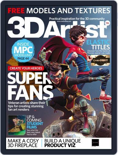 3D Artist December 1st, 2019 Digital Back Issue Cover