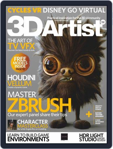3D Artist August 1st, 2019 Digital Back Issue Cover