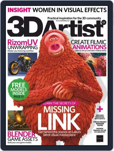 3D Artist July 1st, 2019 Digital Back Issue Cover