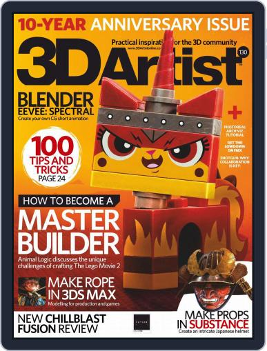 3D Artist June 1st, 2019 Digital Back Issue Cover