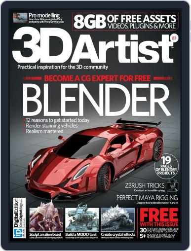 3D Artist (Digital) July 14th, 2015 Issue Cover