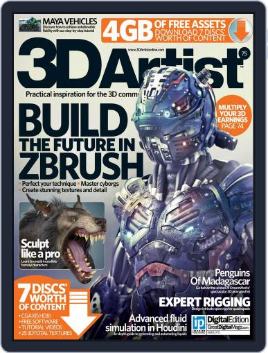 3D Artist (Digital) December 2nd, 2014 Issue Cover