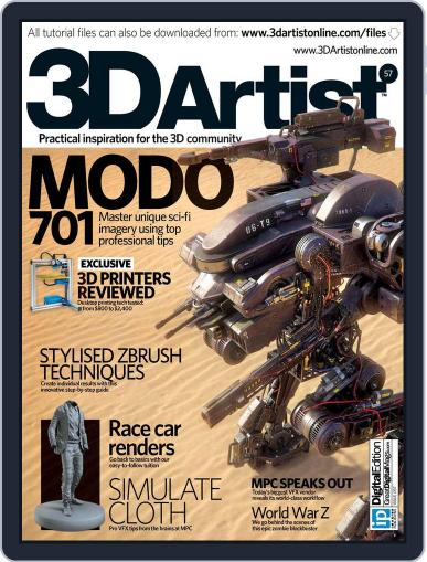 3D Artist (Digital) July 16th, 2013 Issue Cover