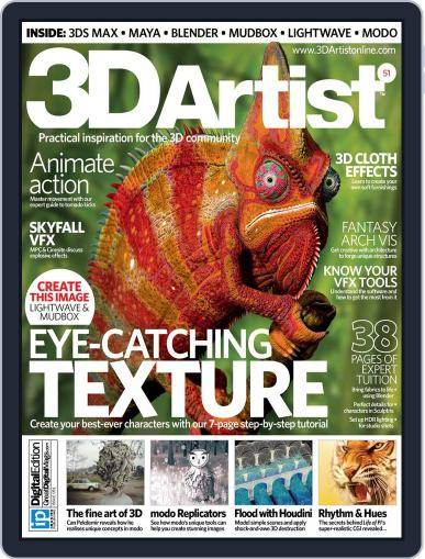 3D Artist (Digital) January 31st, 2013 Issue Cover