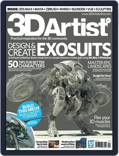 3D Artist (Digital) January 1st, 2013 Issue Cover