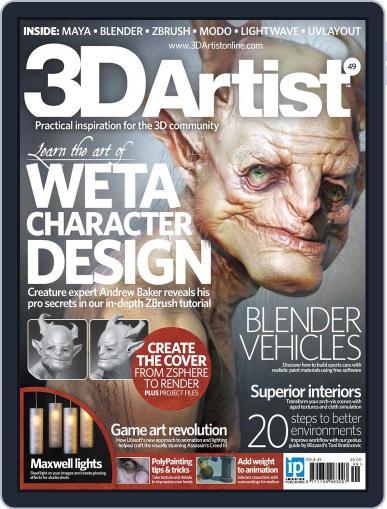 3D Artist (Digital) December 4th, 2012 Issue Cover