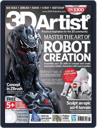 3D Artist (Digital) September 11th, 2012 Issue Cover