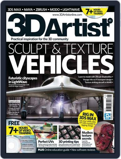 3D Artist (Digital) August 16th, 2012 Issue Cover