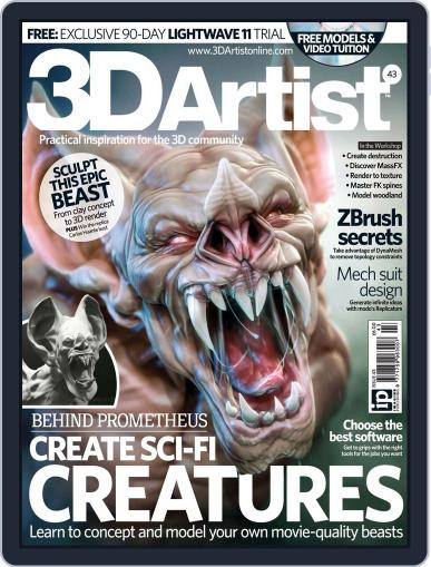 3D Artist (Digital) June 19th, 2012 Issue Cover