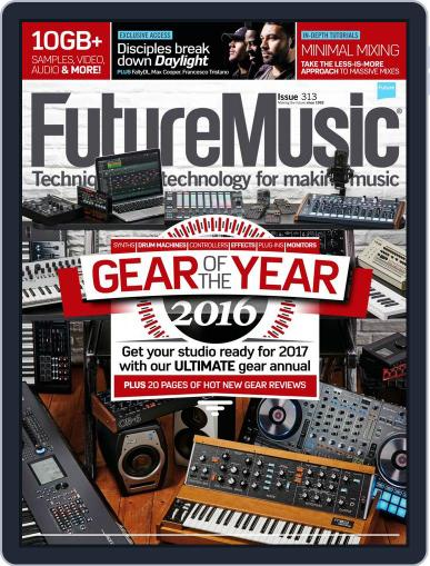 Future Music January 1st, 2017 Digital Back Issue Cover