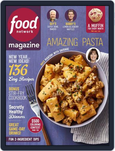 Food Network (Digital) January 1st, 2018 Issue Cover
