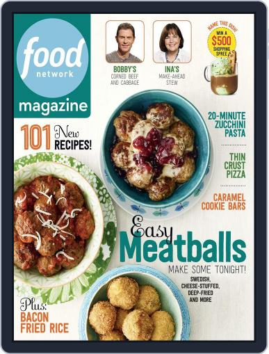 Food Network (Digital) March 1st, 2015 Issue Cover