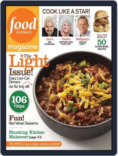 Food Network (Digital) January 5th, 2012 Issue Cover