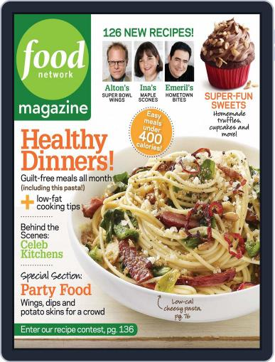 Food Network January 12th, 2010 Digital Back Issue Cover