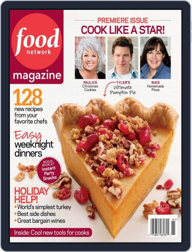 Food Network (Digital) December 1st, 2008 Issue Cover