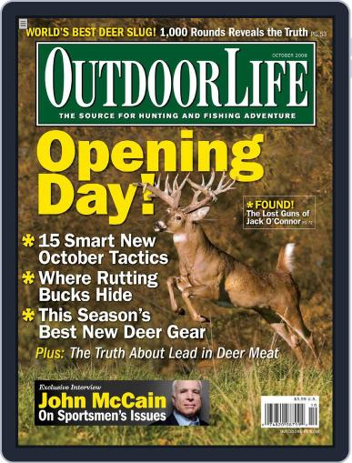 Outdoor Life September 15th, 2008 Digital Back Issue Cover