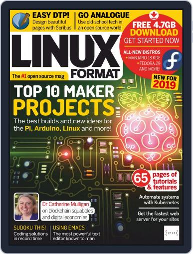 Linux Format January 1st, 2019 Digital Back Issue Cover