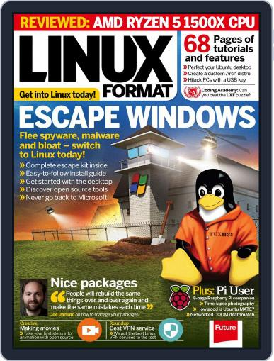 Linux Format (Digital) August 1st, 2017 Issue Cover