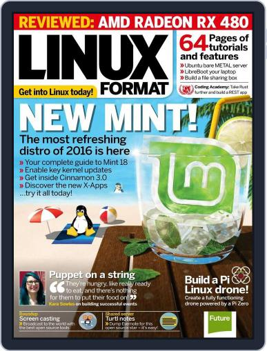 Linux Format August 4th, 2016 Digital Back Issue Cover