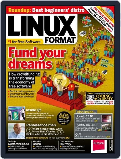 Linux Format November 6th, 2013 Digital Back Issue Cover