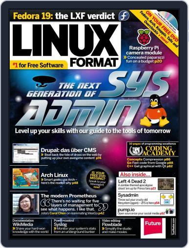Linux Format August 14th, 2013 Digital Back Issue Cover
