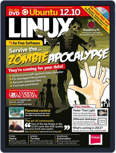 Linux Format (Digital) December 5th, 2012 Issue Cover