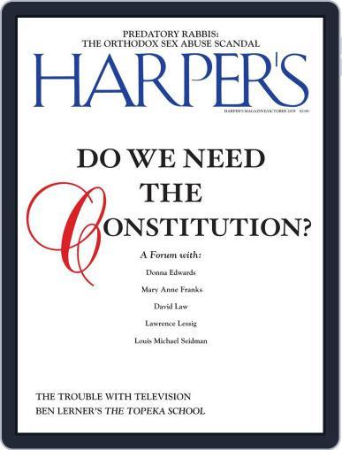 Harper's (Digital) October 1st, 2019 Issue Cover