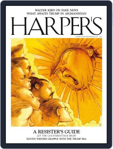 Harper's February 1st, 2017 Digital Back Issue Cover