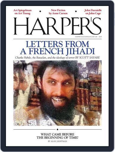 Harper's (Digital) December 22nd, 2015 Issue Cover