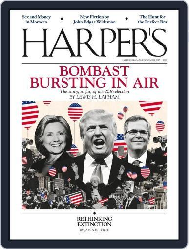Harper's October 27th, 2015 Digital Back Issue Cover