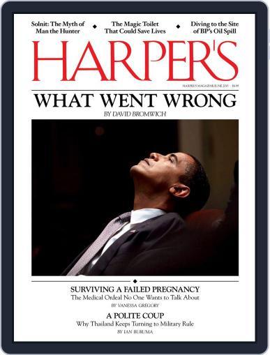 Harper's June 1st, 2015 Digital Back Issue Cover