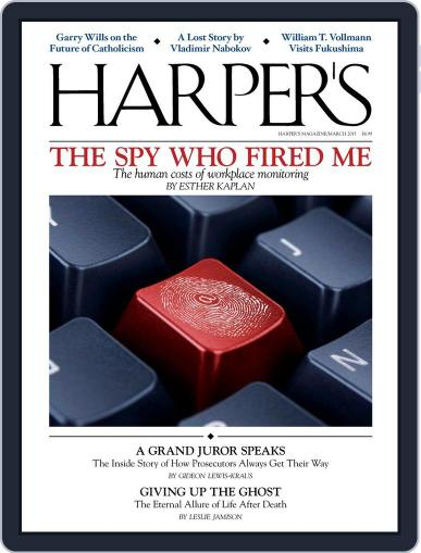 Harper's March 1st, 2015 Digital Back Issue Cover
