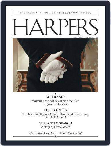 Harper's (Digital) December 24th, 2013 Issue Cover