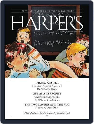 Harper's (Digital) August 27th, 2013 Issue Cover