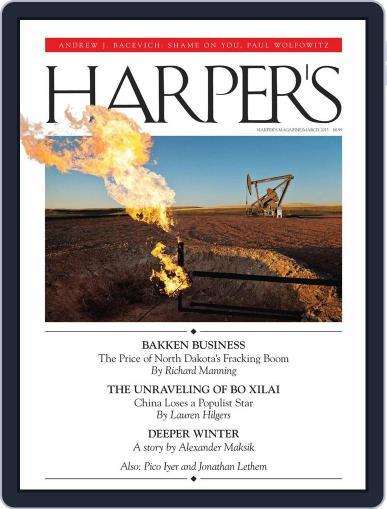 Harper's February 26th, 2013 Digital Back Issue Cover