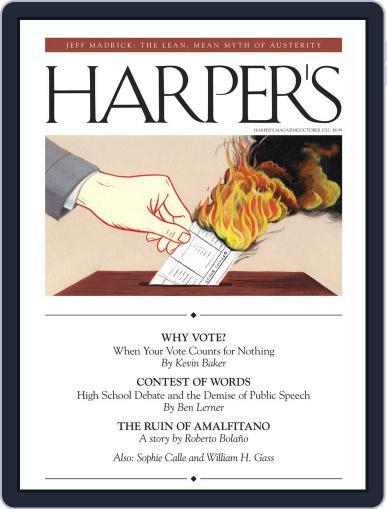 Harper's (Digital) September 25th, 2012 Issue Cover