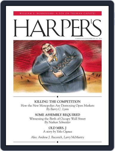 Harper's January 24th, 2012 Digital Back Issue Cover