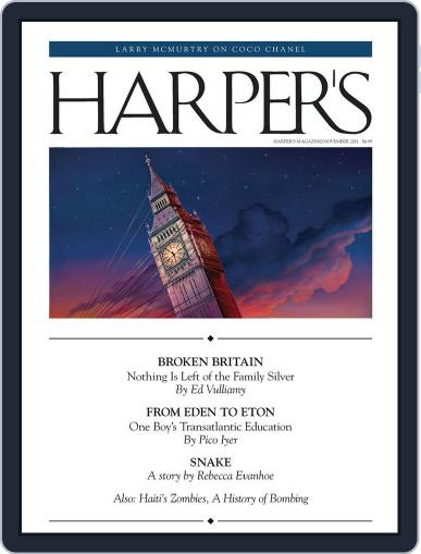 Harper's (Digital) October 25th, 2011 Issue Cover