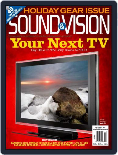 Sound & Vision (Digital) November 13th, 2007 Issue Cover