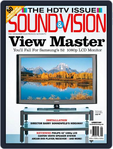 Sound & Vision August 28th, 2007 Digital Back Issue Cover