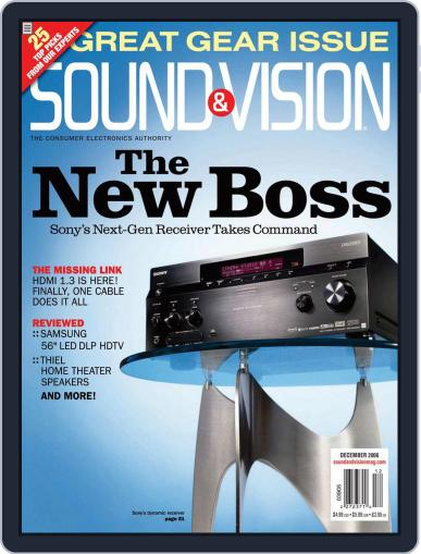 Sound & Vision November 10th, 2006 Digital Back Issue Cover