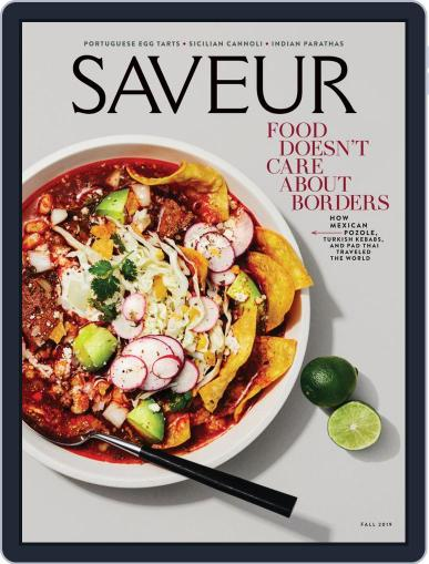 Saveur July 1st, 2019 Digital Back Issue Cover