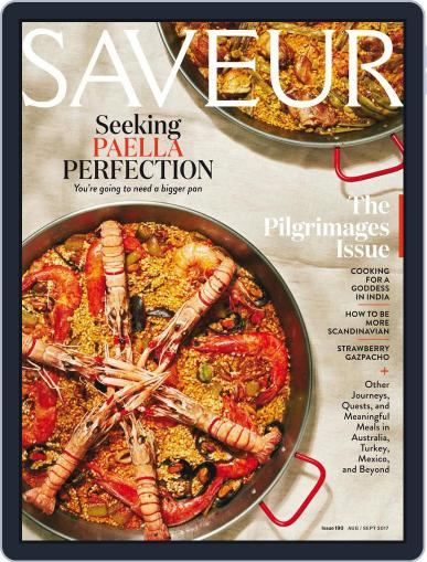 Saveur August 1st, 2017 Digital Back Issue Cover