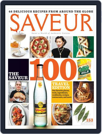 Saveur (Digital) January 1st, 2013 Issue Cover
