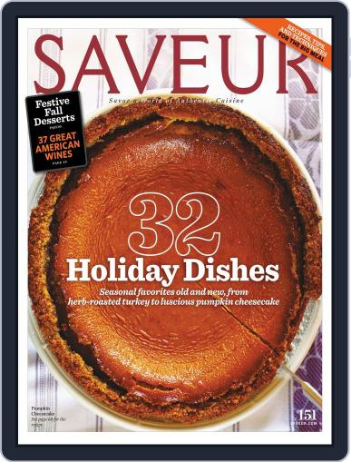 Saveur (Digital) October 17th, 2012 Issue Cover